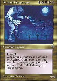 Axelrod Gunnarson Magic Card