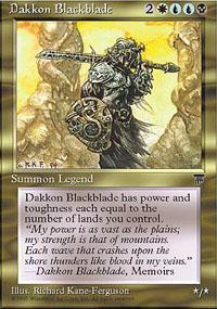 Dakkon Blackblade Magic Card