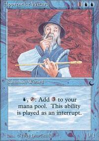 Apprentice Wizard Magic Card
