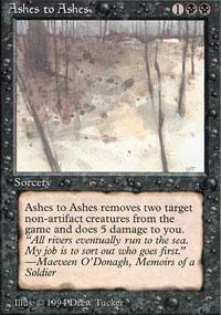 Ashes to Ashes Magic Card