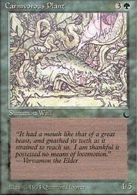 Carnivorous Plant Magic Card