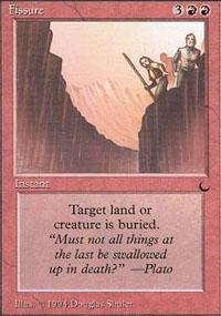 Fissure Magic Card