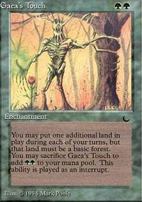 Gaea's Touch Magic Card