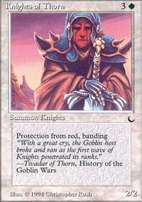 Knights of Thorn Magic Card