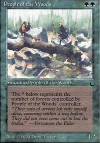 People of the Woods Magic Card