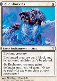 Gelid Shackles Magic Card