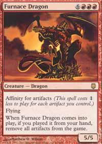 Furnace Dragon Magic Card