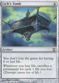 Lich's Tomb Magic Card
