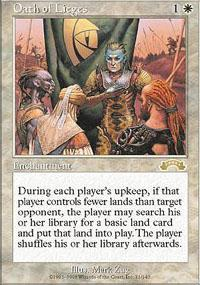 Oath of Lieges Magic Card