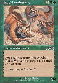 Rabid Wolverines Magic Card