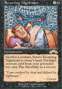 Recurring Nightmare Magic Card