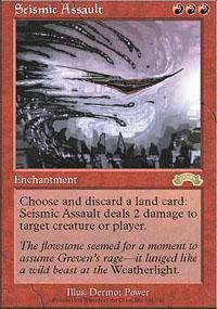 Seismic Assault Magic Card