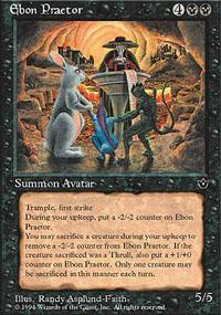 Ebon Praetor Magic Card