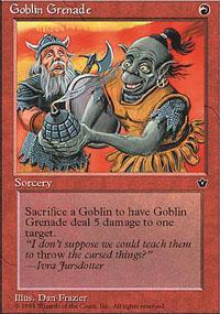 Goblin Grenade Magic Card