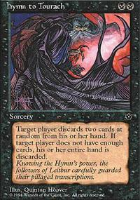 Hymn to Tourach Magic Card