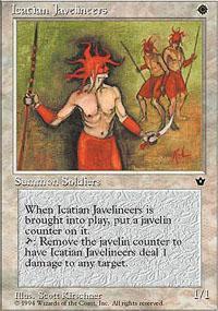 Icatian Javelineers Magic Card