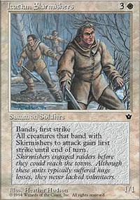 Icatian Skirmishers Magic Card