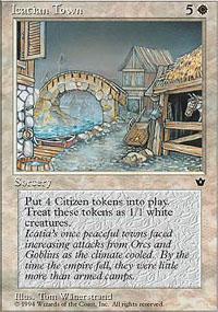 Icatian Town Magic Card