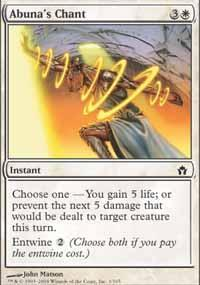 Abuna's Chant Magic Card