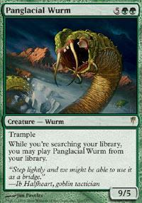 Panglacial Wurm Magic Card
