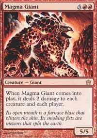 Magma Giant Magic Card