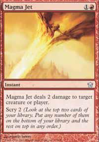 Magma Jet Magic Card