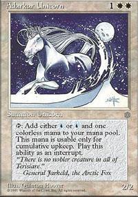 Adarkar Unicorn Magic Card
