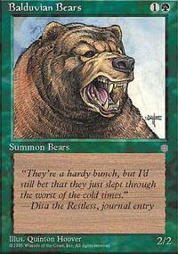 Balduvian Bears Magic Card