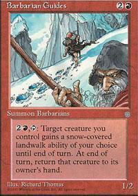 Barbarian Guides Magic Card