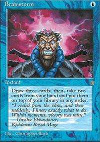 Brainstorm Magic Card