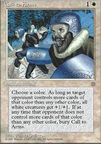 Call to Arms Magic Card
