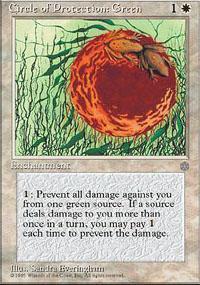 Circle of Protection: Green Magic Card