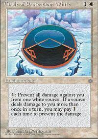 Circle of Protection: White Magic Card