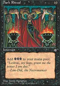 Dark Ritual Magic Card