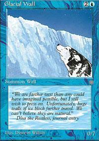 Glacial Wall Magic Card