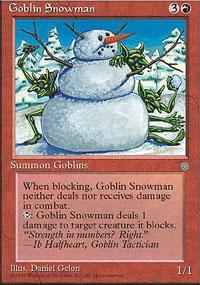 Goblin Snowman Magic Card