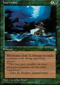 Hurricane Magic Card