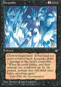 Icequake Magic Card