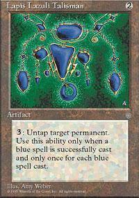 Lapis Lazuli Talisman Magic Card