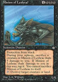 Minion of Leshrac Magic Card