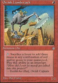 Orcish Lumberjack Magic Card