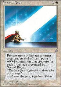 Sacred Boon Magic Card