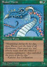 Scaled Wurm Magic Card