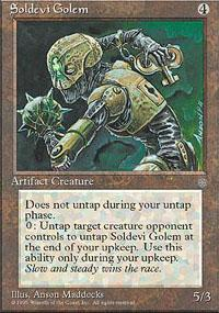 Soldevi Golem Magic Card