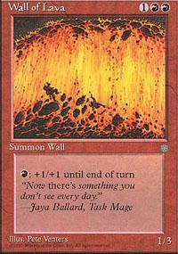 Wall of Lava Magic Card