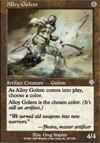 Alloy Golem Magic Card