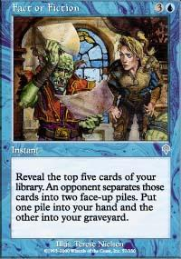 Fact or Fiction Magic Card