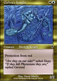 Galina's Knight Magic Card