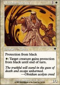 Obsidian Acolyte Magic Card