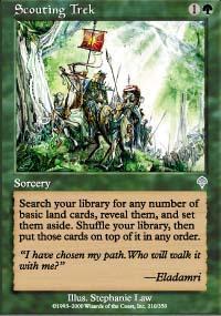 Scouting Trek Magic Card